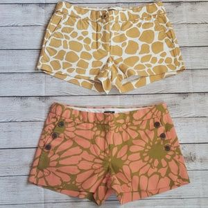 J.Crew Cotton Shorts lot of (2)